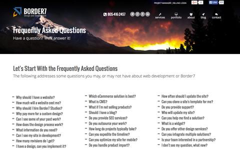 Frequently Asked Questions | Border7 Studios