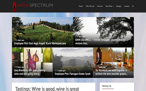Screenshot of Blog winespectrum.com - Winespectrum Blog | Wine Spectrum - captured Oct. 9, 2014