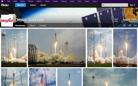 Screenshot of Flickr Page flickr.com - Flickr: Orbital Sciences' Photostream - captured Oct. 26, 2014