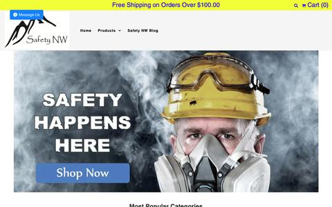 Screenshot of Home Page safetynw.com - Safety NW - captured Nov. 6, 2018