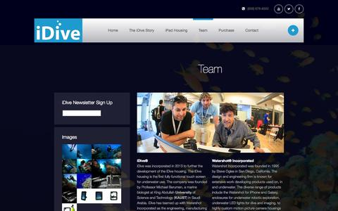 Screenshot of Team Page idivehousing.com - Team - iDive - captured Sept. 30, 2014