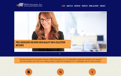 Screenshot of Home Page presassociates.com - PRES Associates - captured June 17, 2015