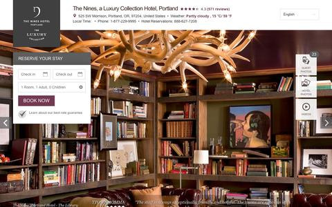 Screenshot of Home Page thenines.com - Luxury Hotel in Portland   the Nines, Portland Hotel - captured Feb. 15, 2016