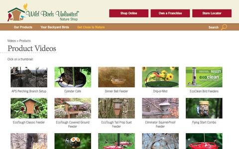 Screenshot of Products Page wbu.com - Products - Wild Birds Unlimited | Wild Birds Unlimited - captured June 23, 2017