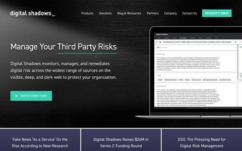 Managing Digital Risk and Digital Security   Digital Shadows