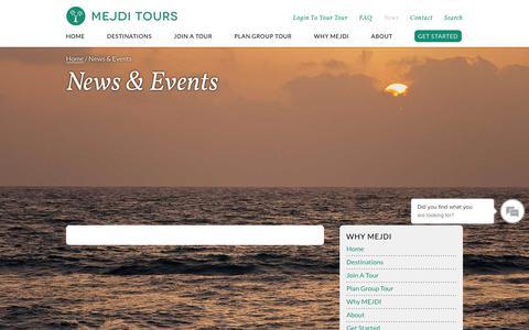 Screenshot of Press Page mejditours.com - News & Events     MEJDI Tours - captured Nov. 5, 2018