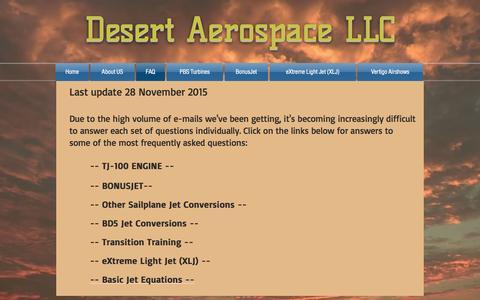 Screenshot of FAQ Page desertaerospace.com - desertaerospace | FAQ - captured Nov. 24, 2016