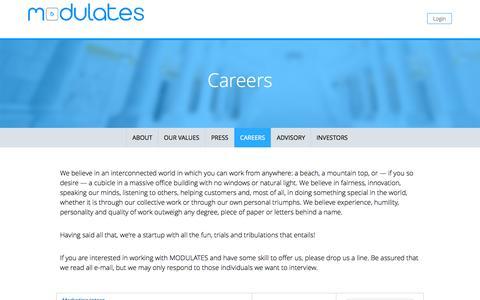 Screenshot of Jobs Page modulates.com - Jobs | Modulates.com - captured Oct. 2, 2015