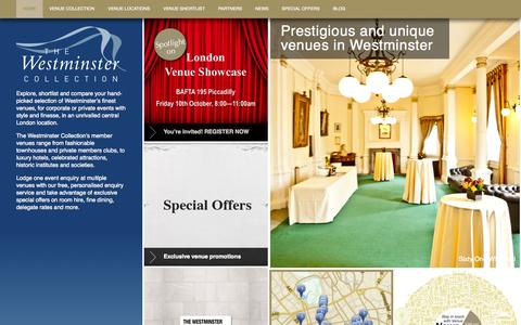 Screenshot of Home Page venues-london.co.uk - London Venues: Conference | Wedding | Reception | Meeting - captured Oct. 9, 2014