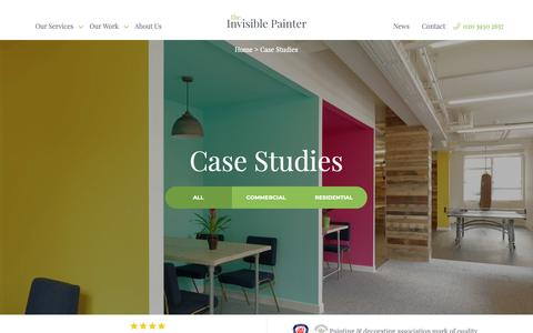 Screenshot of Case Studies Page theinvisiblepainter.co.uk - All Painting & Decorating Case Studies | The Invisible Painter - captured Oct. 20, 2018