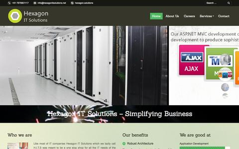 Screenshot of Home Page hexagonitsolutions.net - Hexagon IT Solutions | - captured Oct. 1, 2014