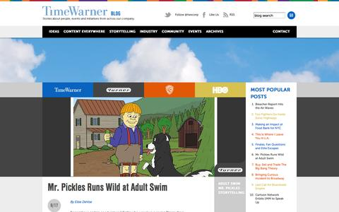 Screenshot of Blog timewarner.com - Time Warner Blog - captured Sept. 18, 2014