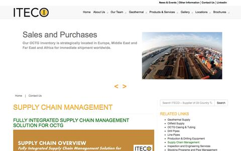 Screenshot of Services Page iteco-supply.com - Supply Chain Management - ITECO - Supplier of Oil Country Tubular Goods (OCTG) - captured Oct. 6, 2014