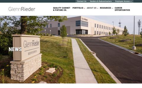 Screenshot of Press Page glennrieder.com - News - Glenn Rieder - captured Nov. 10, 2018