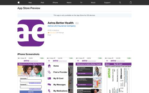 Aetna Better Health on the AppStore