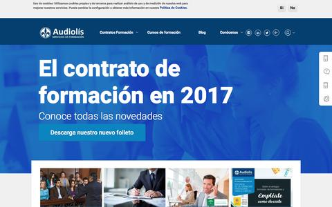 Screenshot of Home Page audiolis.com - Audiolís, Servicios de Formación - captured May 30, 2017