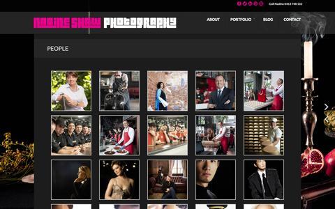 Screenshot of Team Page nadineshaw.com - PEOPLE - NADINE SHAW PHOTOGRAPHY - NADINE SHAW PHOTOGRAPHY - captured Feb. 22, 2016