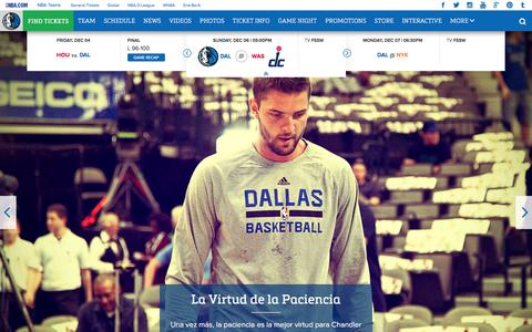 Screenshot of Home Page mavs.com - Home - Official Website of the Dallas Mavericks - captured Dec. 5, 2015
