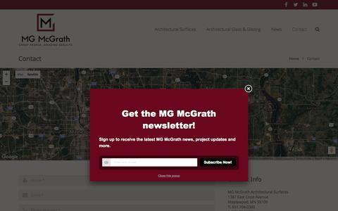 Screenshot of Contact Page mgmcgrath.com - Contact Us - captured Nov. 18, 2016