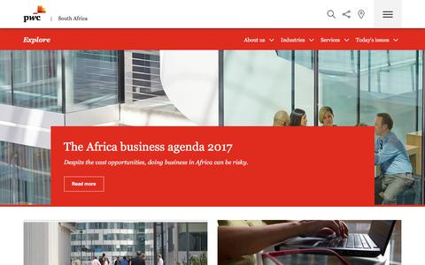 Homepage | PwC South Africa