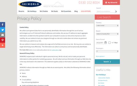 Skiworld Privacy Policy