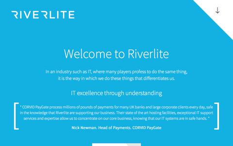 Screenshot of Home Page Privacy Page riverlite.co.uk - IT Service Excellence Through Understanding | Riverlite - captured Oct. 22, 2017