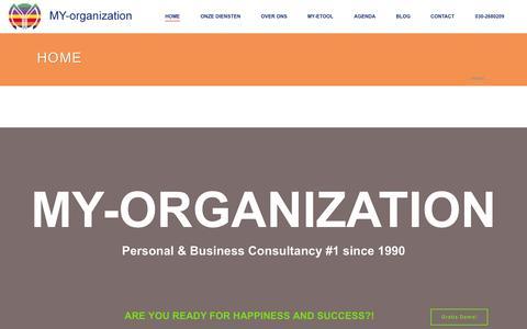 Screenshot of Home Page my-organization.nl - MY-organization - captured Aug. 2, 2015