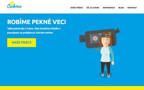 Screenshot of Home Page cukru.sk - Cukru production - kreatívne štúdio z Trnavy - captured Sept. 17, 2015