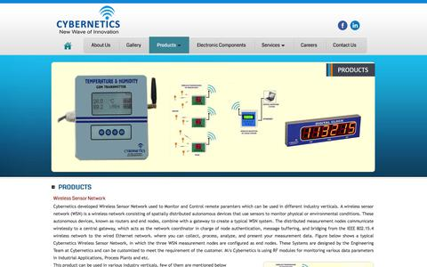 Screenshot of Products Page cyberneticservices.in - ..:: Welcome to CYBERNETICS - New Wave of Innovation ::.. - captured July 10, 2017