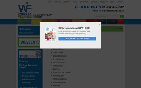 Screenshot of Site Map Page wessexfixings.co.uk - Site Map - Wessex Fixings - captured Dec. 15, 2016