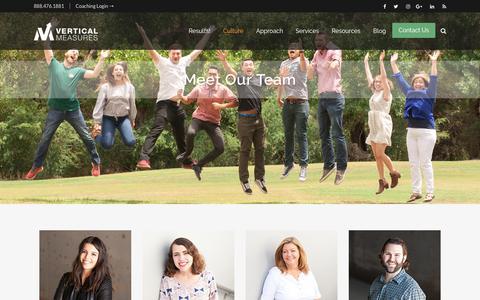 Screenshot of Team Page verticalmeasures.com - Vertical Measures Team   Digital Marketing Experts - captured Sept. 13, 2018