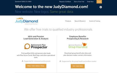Screenshot of Trial Page judydiamond.com - Free Trial | Judy Diamond AssociatesJudy Diamond Associates, Inc. - captured Nov. 3, 2014