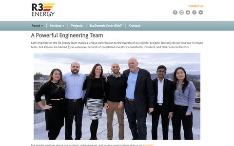 Screenshot of Team Page r3energy.com - R3 Energy  » Team - captured Sept. 24, 2018