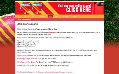 Screenshot of Signup Page wearemancunians.com - Join Mancunians – Mancunians - captured Nov. 18, 2016