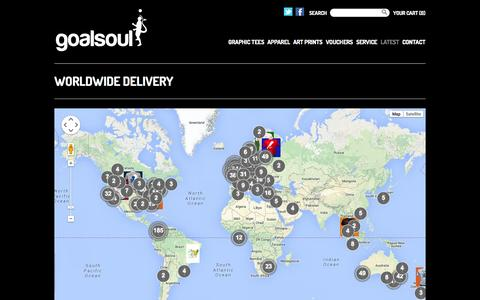 Screenshot of Maps & Directions Page goalsoul.net - Worldwide delivery | goalsoul - captured Sept. 30, 2014