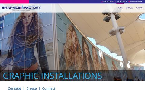 Screenshot of Home Page graphics-factory.net - The Graphics Factory - captured May 23, 2017