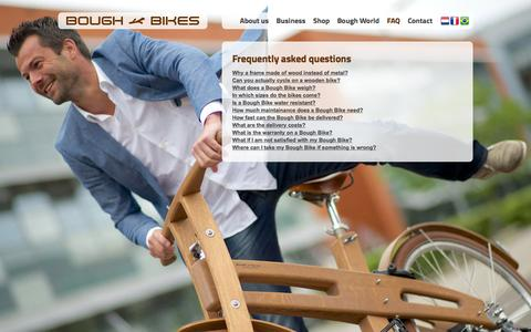 Screenshot of FAQ Page boughbikes.com - Frequently asked questions - Bough Bikes - captured Jan. 7, 2016
