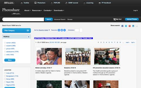 Screenshot of Team Page photoshare.org - Photoshare   Public Health Photos and International Development Images Free for Nonprofit Educational Use - captured June 11, 2016