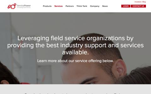 Screenshot of Services Page servicepower.com - Connected Field Service Support and Workforce Management Services - captured Sept. 24, 2014