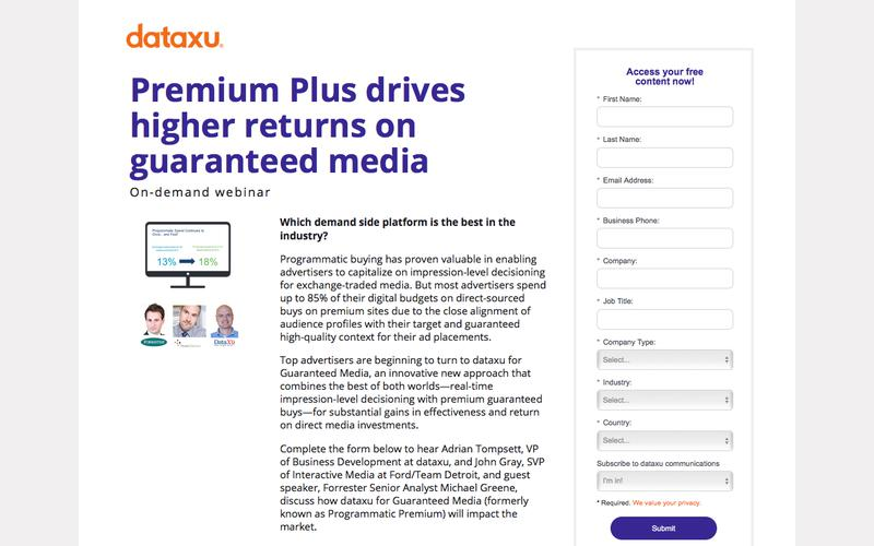 Webinar: Drive Returns on Premium Media Investments
