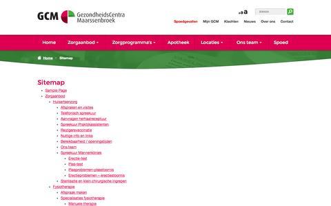 Screenshot of Site Map Page gcmbroek.nl - Sitemap - GCMbroek - captured Oct. 6, 2014
