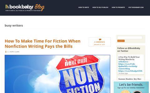 Screenshot of Blog bookbaby.com - busy writers | BookBaby Blog - captured Feb. 27, 2017