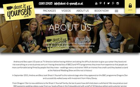 Screenshot of About Page shoot-it-yourself.co.uk - About Us - captured March 13, 2017