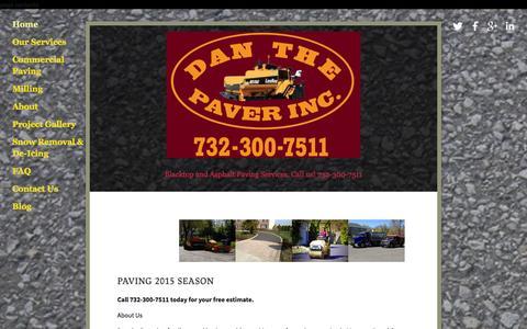 Screenshot of Home Page danthepaver.com - NJ Paving Contractors | Commercial Pavers | Driveway Construction | DanthePaver.com - captured Jan. 7, 2016