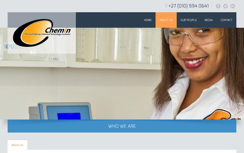 Screenshot of About Page chemin.co.za - About Us | Chemin - captured Sept. 29, 2014
