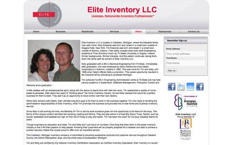 Screenshot of About Page eliteinventoryllc.com - About Elite Inventory LLC | Elite Inventory LLC - captured Sept. 29, 2014