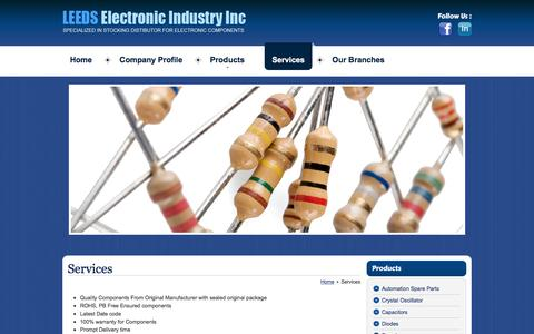 Screenshot of Services Page leedsind.com - Providing Packing & Delivery Services - Obsolete Electronic Components & Electrical Capacitors - captured Nov. 4, 2016