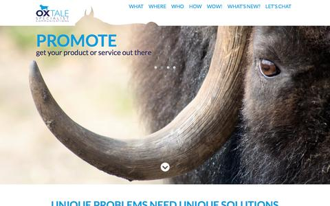Screenshot of Home Page oxtale.co.uk - Oxtale | Specialist Communications for Agriculture, Environment, Industry & Science - captured Dec. 2, 2016