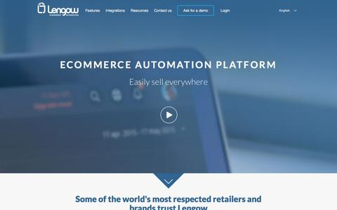 Screenshot of Home Page lengow.com - Lengow - Ecommerce feed management solution - captured Jan. 28, 2016