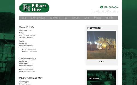Screenshot of Locations Page pilbarahire.com.au - Pilbara Hire | The Flexible Alternative - Locations - captured Dec. 9, 2015